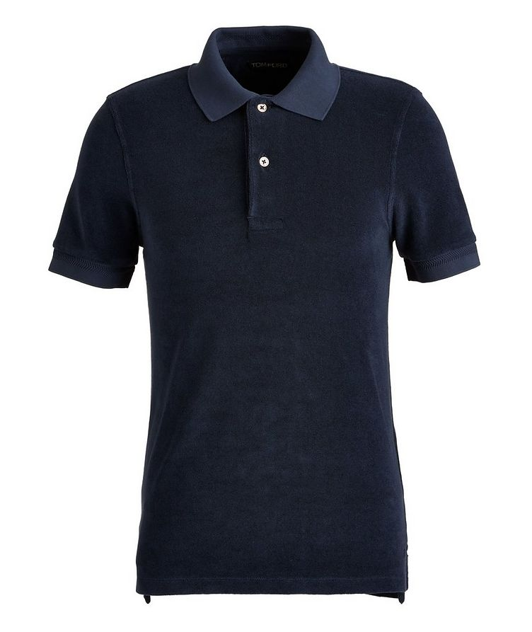 Cotton-Blend Terrycloth Polo image 0