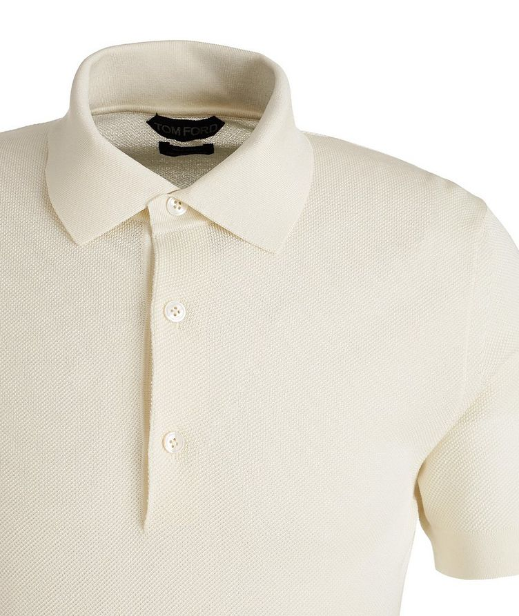 Cotton-Blend Knit Polo image 2