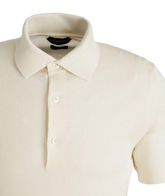 Cotton-Blend Knit Polo picture 3