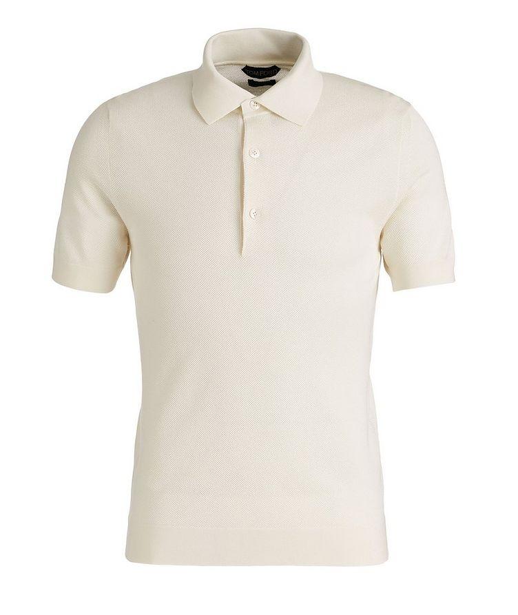 Cotton-Blend Knit Polo image 0
