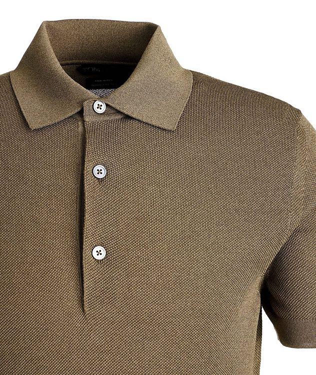 Knit Cotton-Blend Polo picture 2