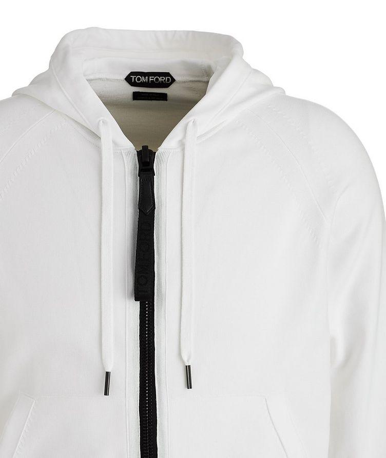 Silk-Blend Zip-Up Hoodie image 2