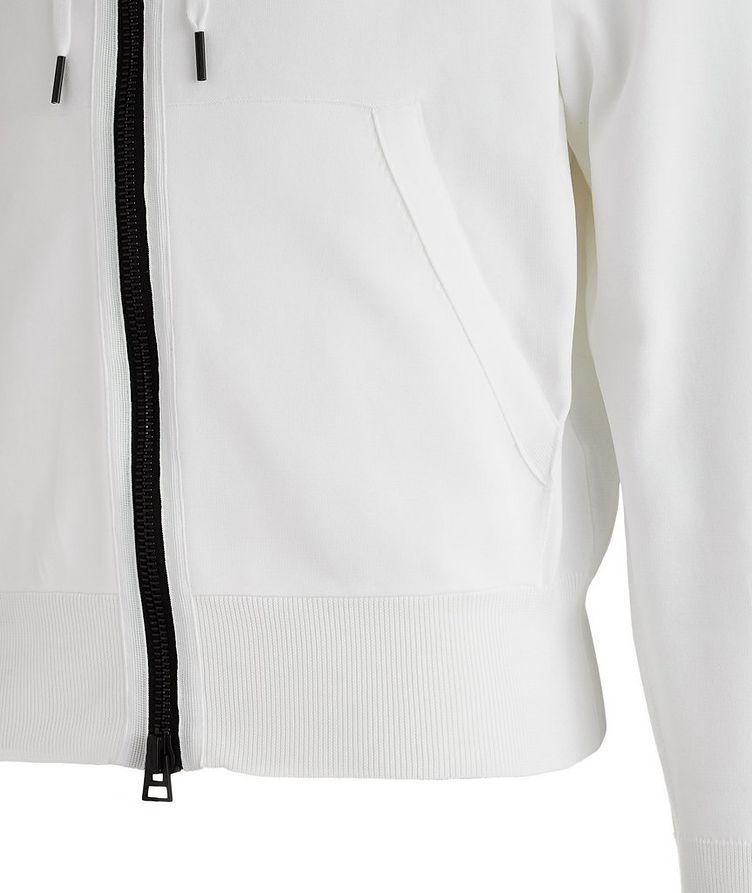 Silk-Blend Zip-Up Hoodie image 3