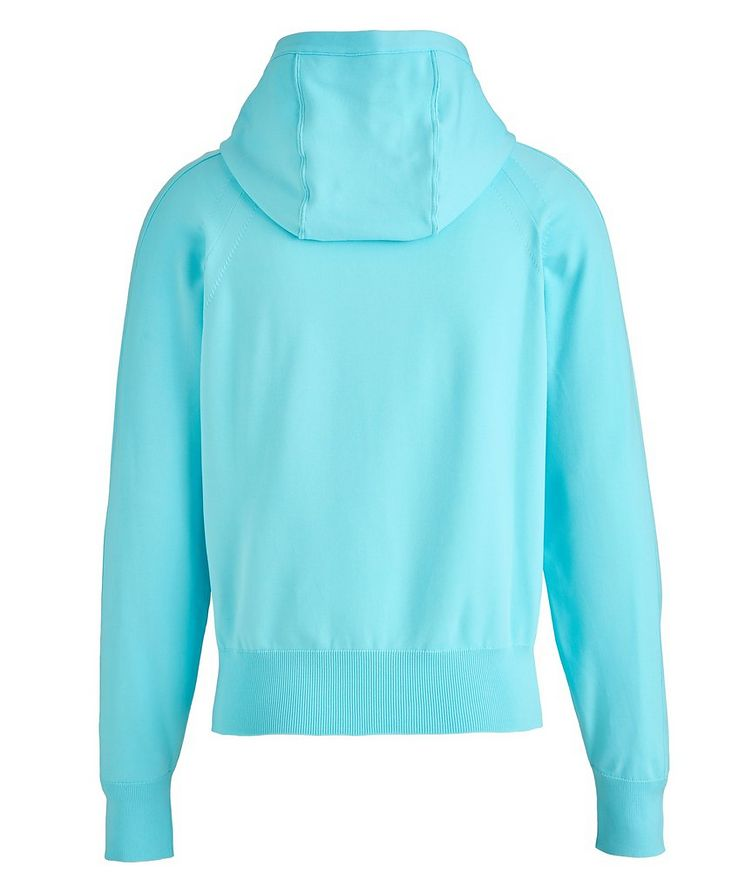 Silk-Blend Zip-Up Hoodie image 1