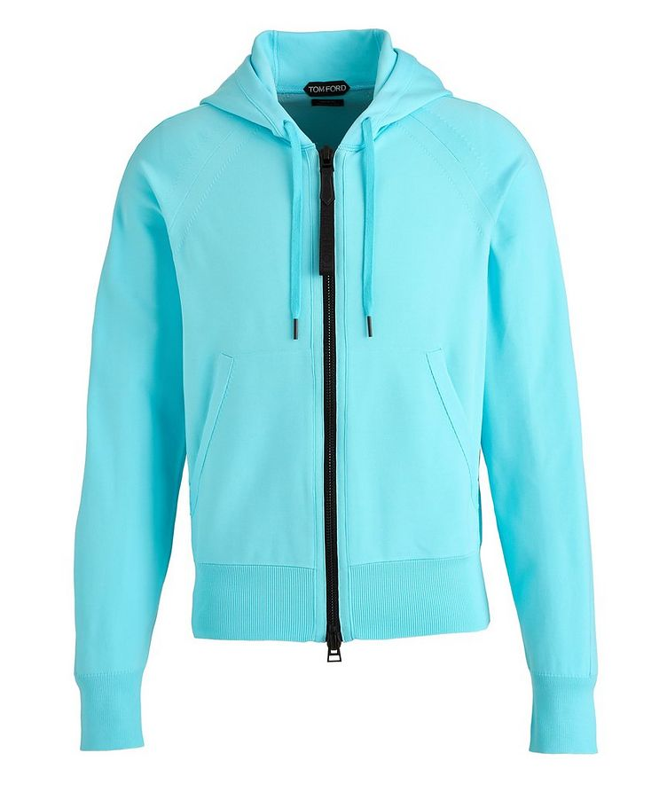 Silk-Blend Zip-Up Hoodie image 0