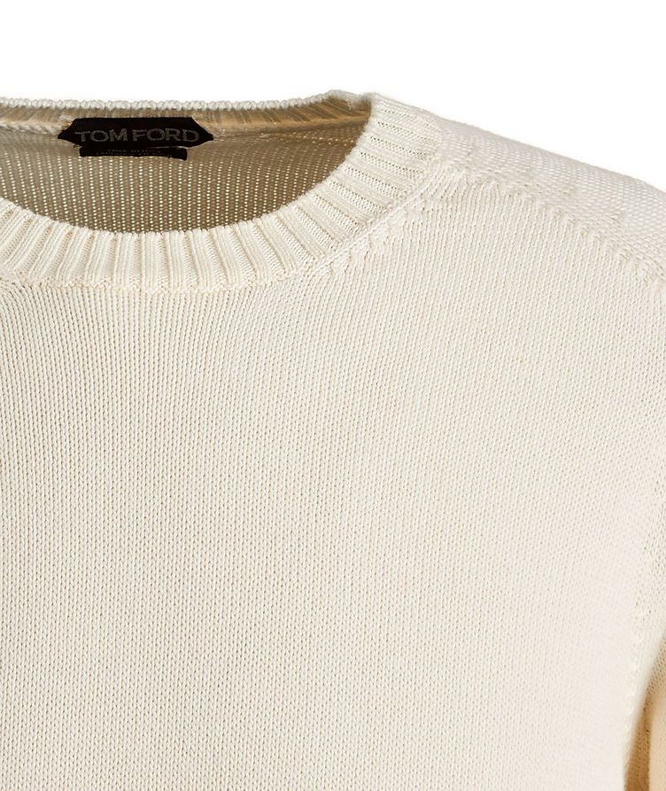 Cotton-Silk Knit Sweater image 2