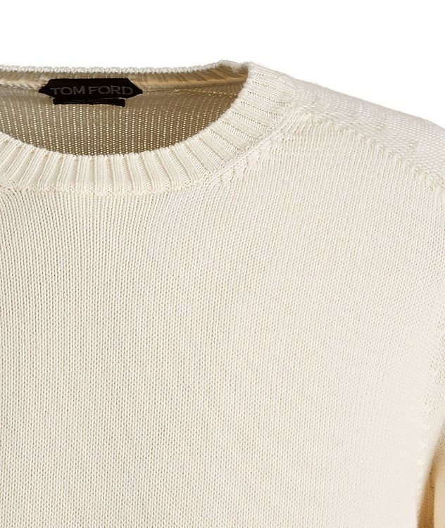 Cotton-Silk Knit Sweater picture 3