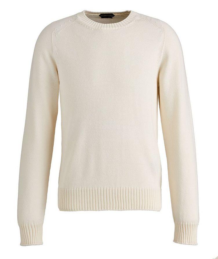 Cotton-Silk Knit Sweater image 0