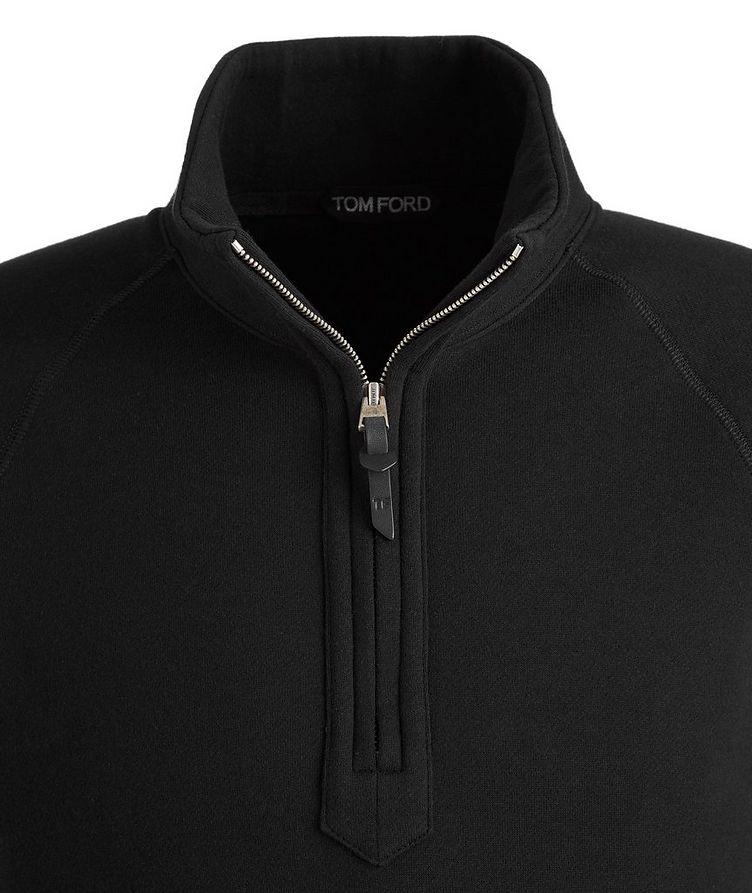 Half-zip Mock Neck Cotton Sweatshirt  image 1