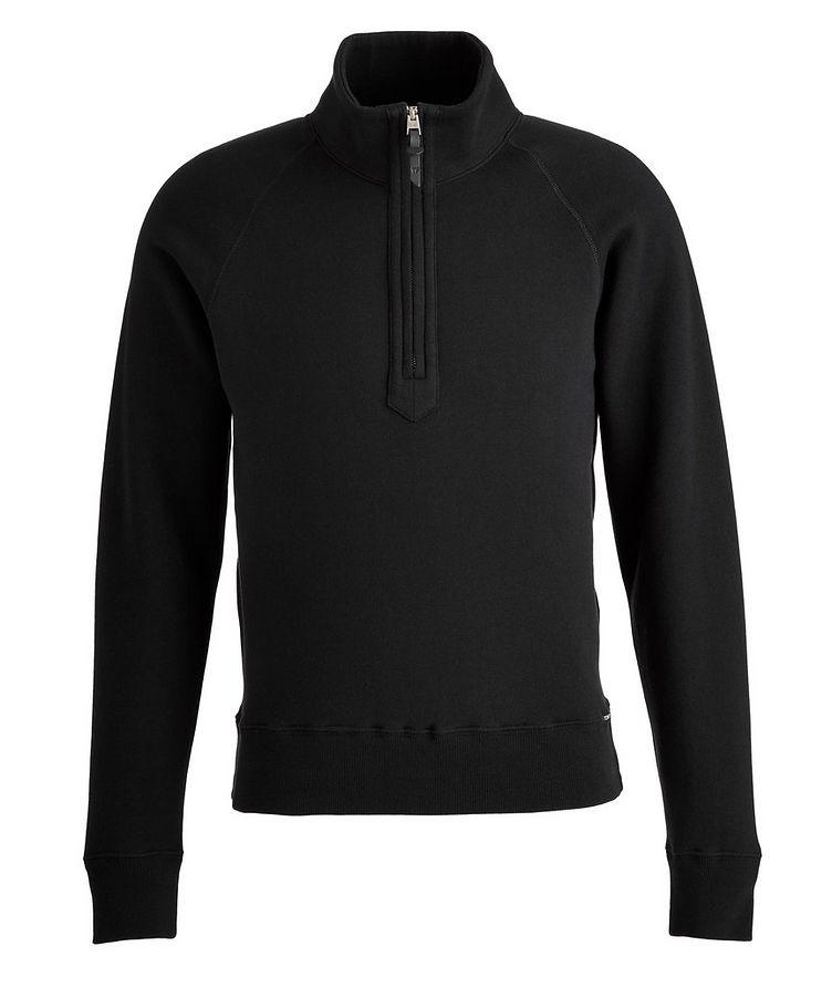 Half-zip Mock Neck Cotton Sweatshirt  image 0