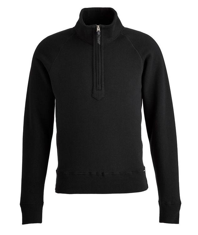 Half-zip Mock Neck Cotton Sweatshirt  picture 1