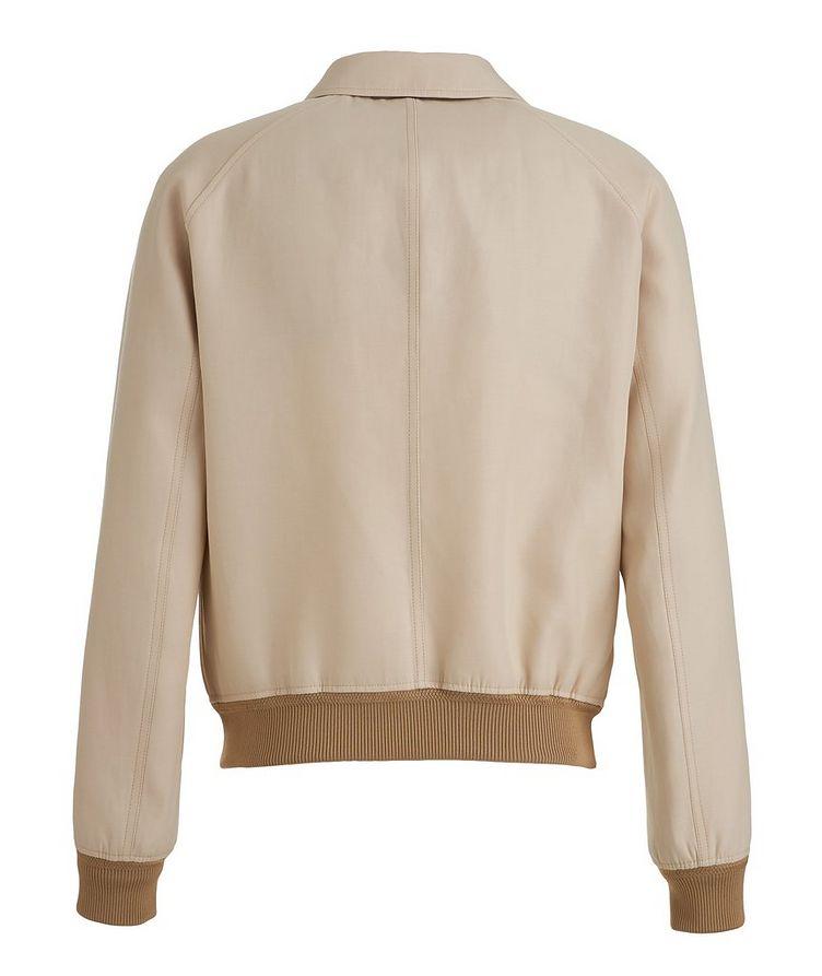 Silk-Cotton Blouson Jacket image 1