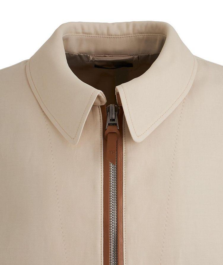 Silk-Cotton Blouson Jacket image 2