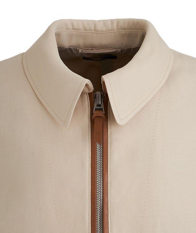 Silk-Cotton Blouson Jacket picture 3