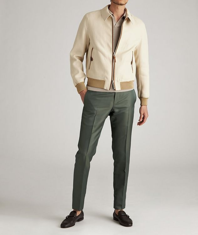 Silk-Cotton Blouson Jacket picture 5