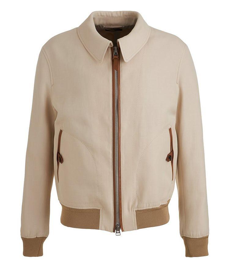 Silk-Cotton Blouson Jacket image 0