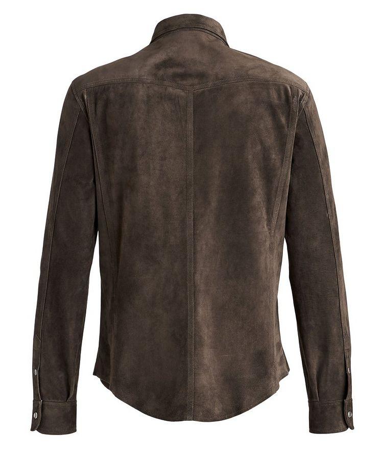 Calfskin Suede Shirt Jacket image 1