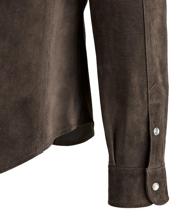 Calfskin Suede Shirt Jacket image 2