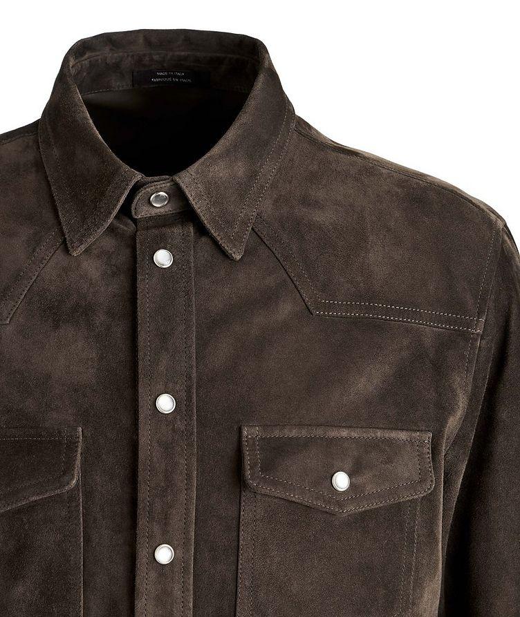 Calfskin Suede Shirt Jacket image 3