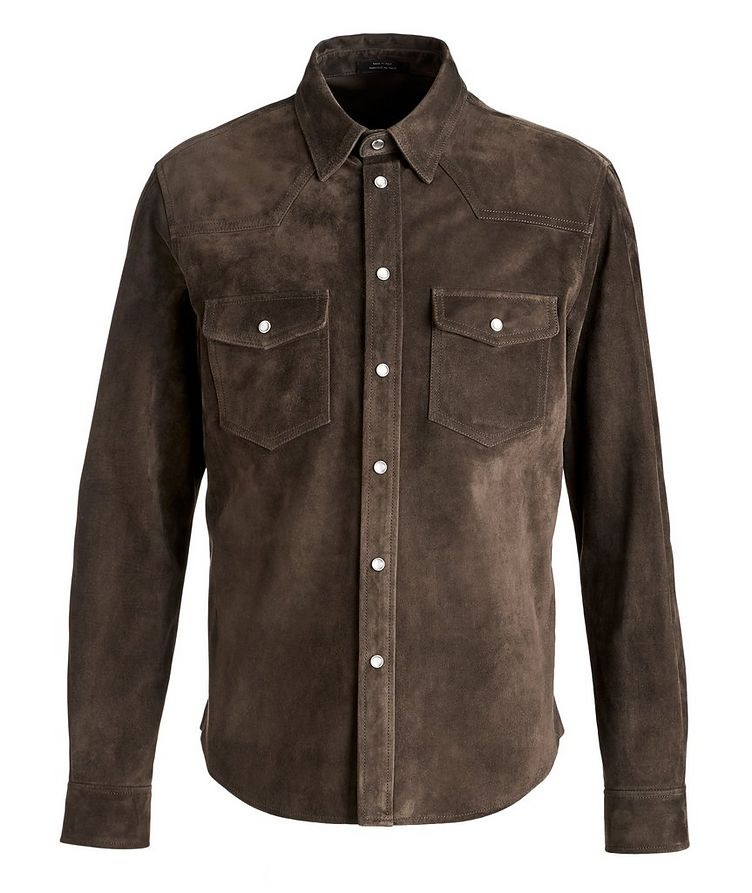 Calfskin Suede Shirt Jacket image 0