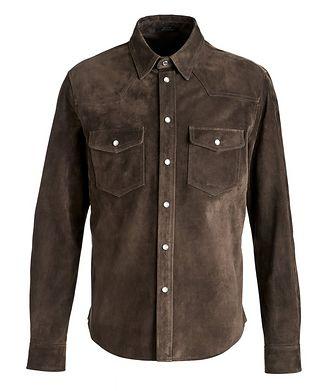 TOM FORD Calfskin Suede Shirt Jacket