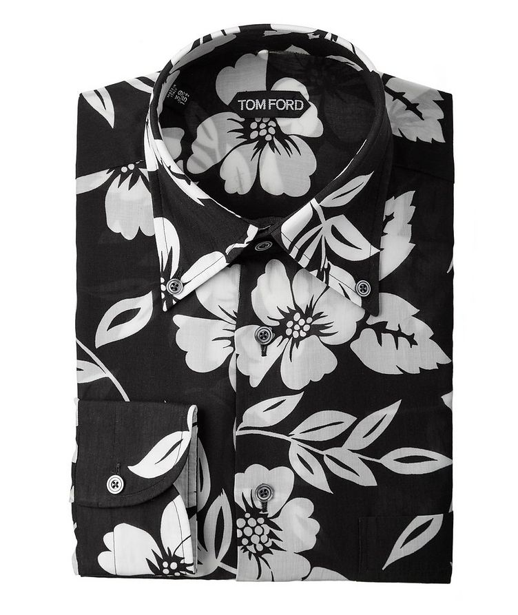 Floral Lyocell Shirt image 0