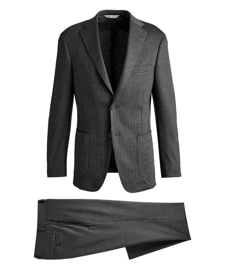Metro Pinstriped Wool Suit image 0