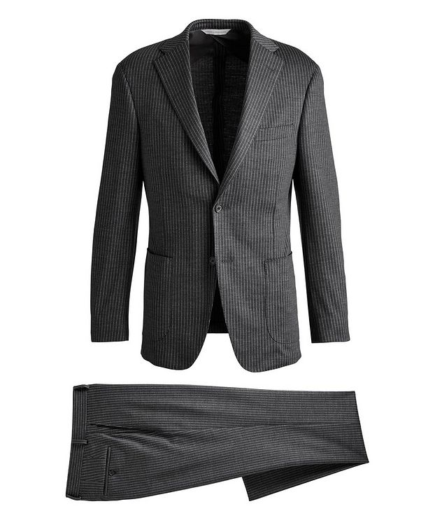 Metro Pinstriped Wool Suit picture 1