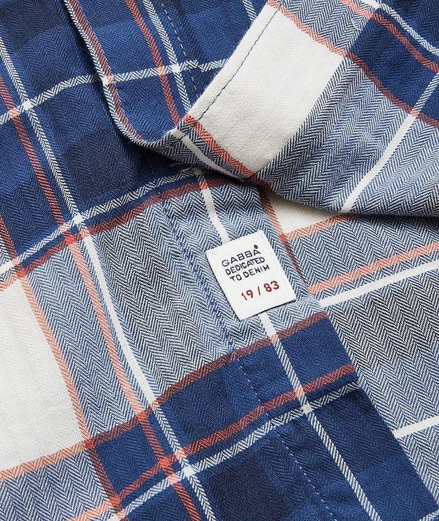 Atlanta Plaid Cotton-Linen Shirt picture 3