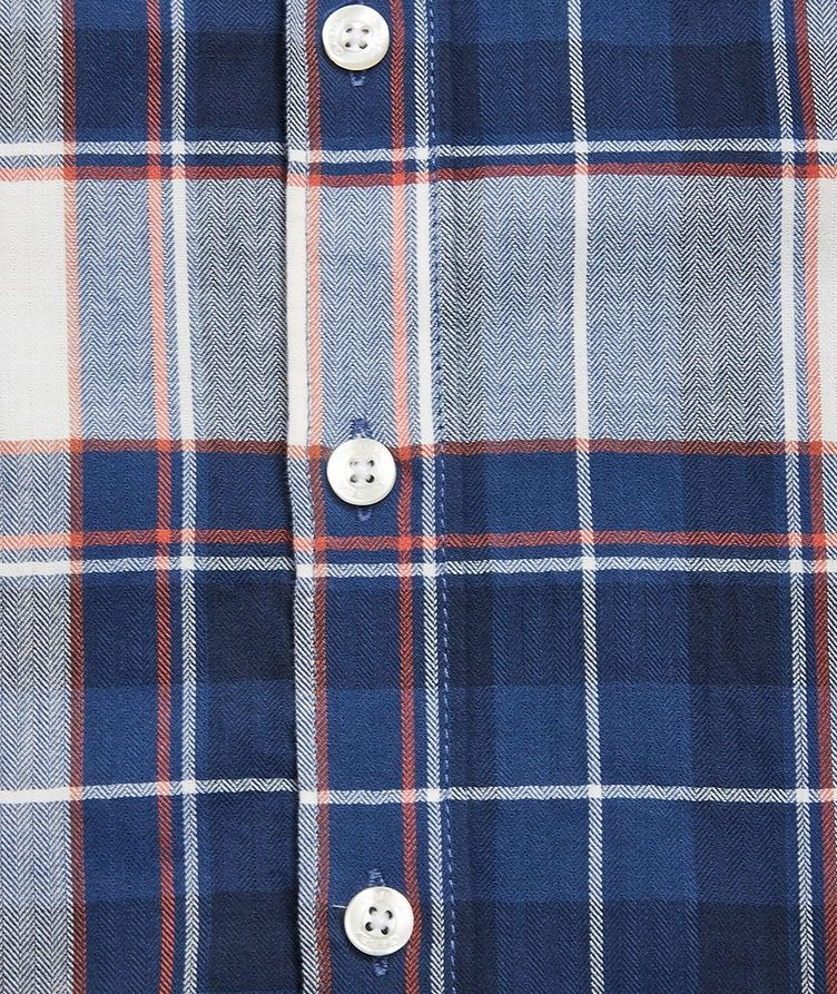 Atlanta Plaid Cotton-Linen Shirt image 3