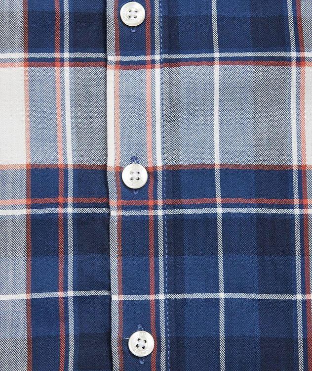 Atlanta Plaid Cotton-Linen Shirt picture 4