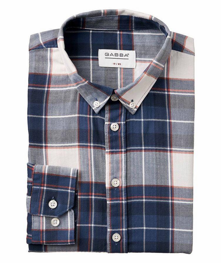 Atlanta Plaid Cotton-Linen Shirt image 0