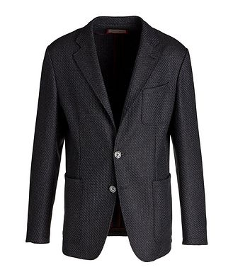 Canali Unstructured Tweed Wool Sports Jacket