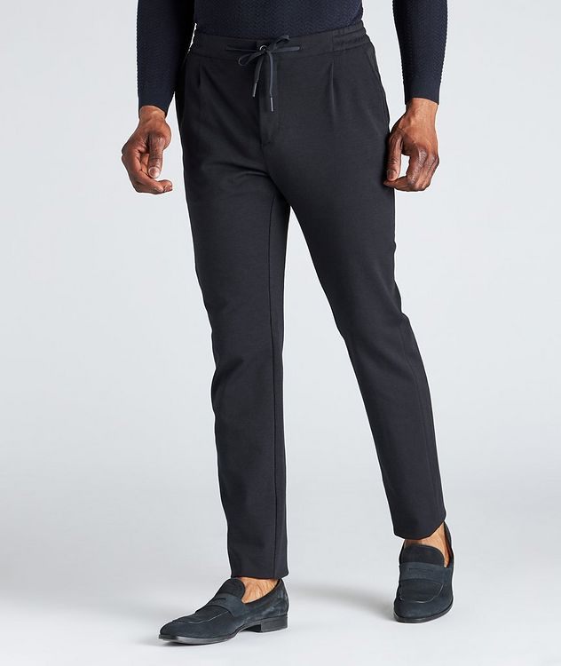 Drawstring Cotton-Blend Jersey Dress Pants picture 2