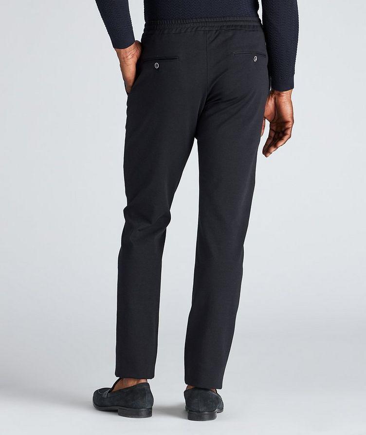 Drawstring Cotton-Blend Jersey Dress Pants image 2