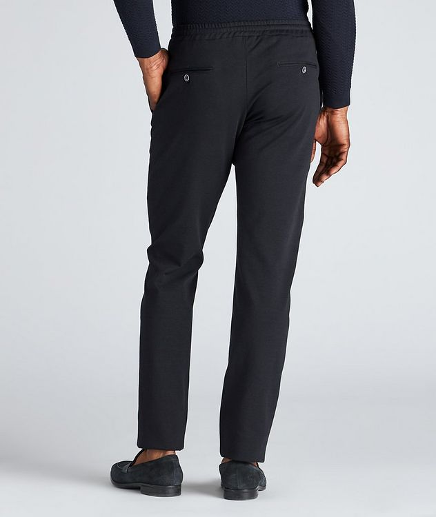 Drawstring Cotton-Blend Jersey Dress Pants picture 3