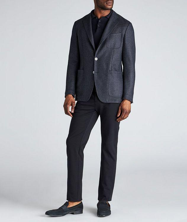 Drawstring Cotton-Blend Jersey Dress Pants picture 5