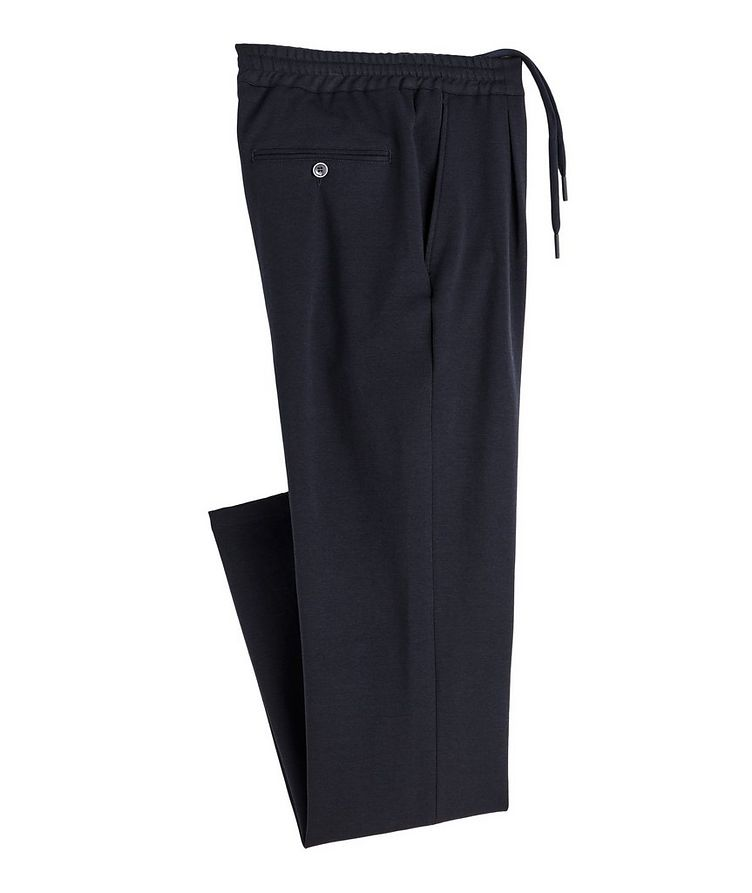 Drawstring Cotton-Blend Jersey Dress Pants image 0