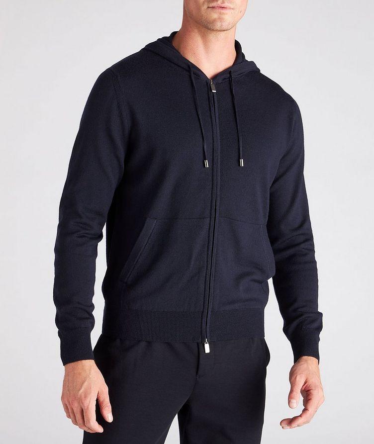 Hooded Zip-Up Wool Sweater image 1