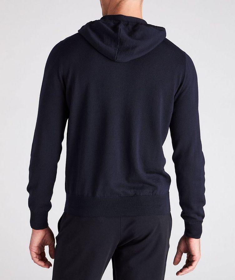 Hooded Zip-Up Wool Sweater image 2