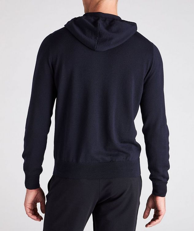 Hooded Zip-Up Wool Sweater picture 3