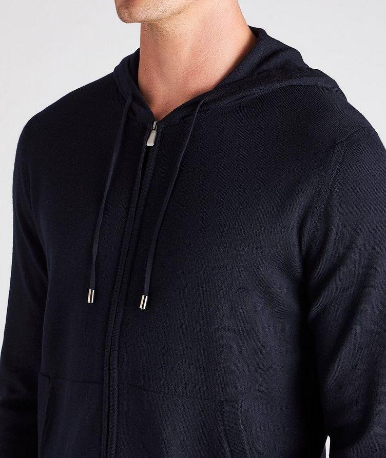 Hooded Zip-Up Wool Sweater image 3