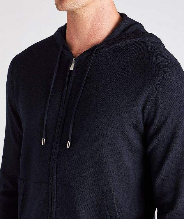 Hooded Zip-Up Wool Sweater picture 4