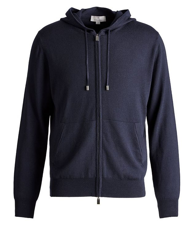 Hooded Zip-Up Wool Sweater picture 1