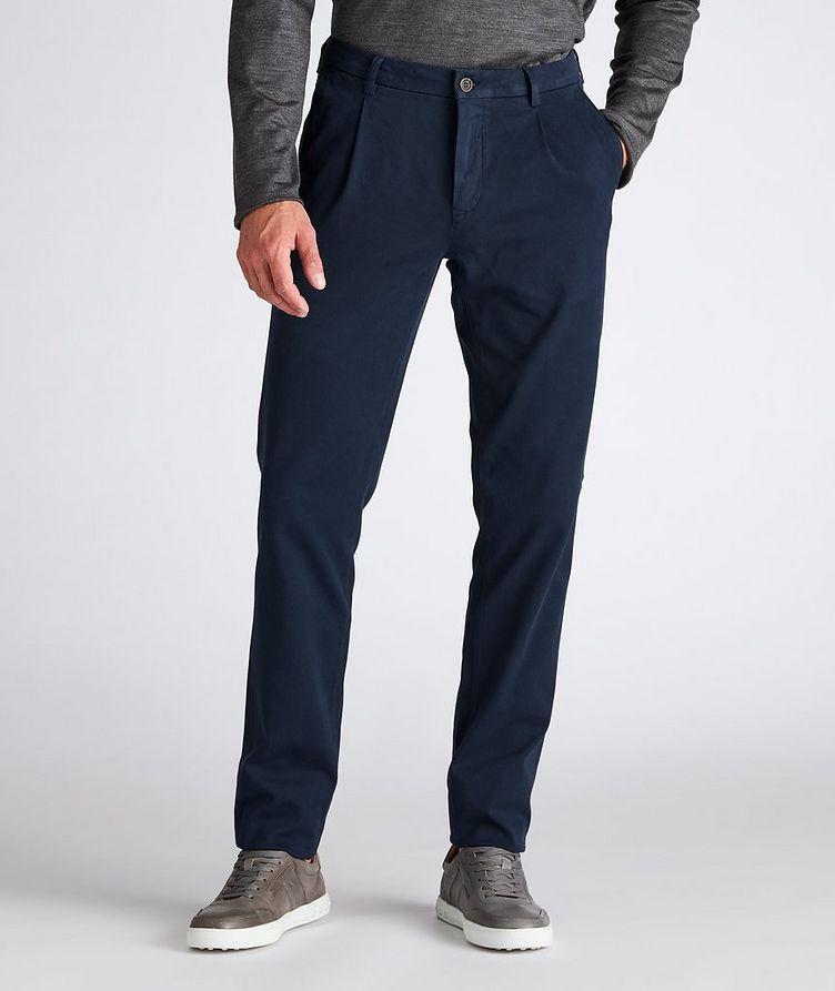 Slim-Fit Cotton-Blend Pants image 1