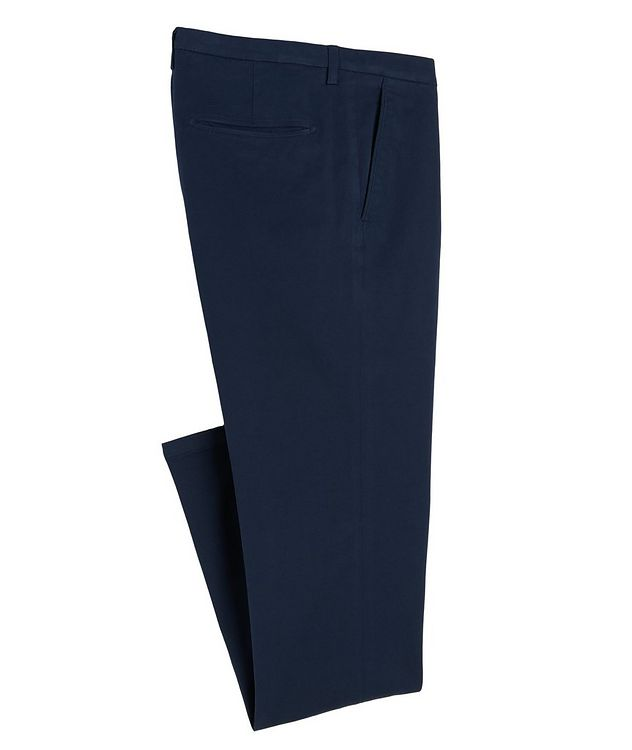 Slim-Fit Cotton-Blend Pants picture 1