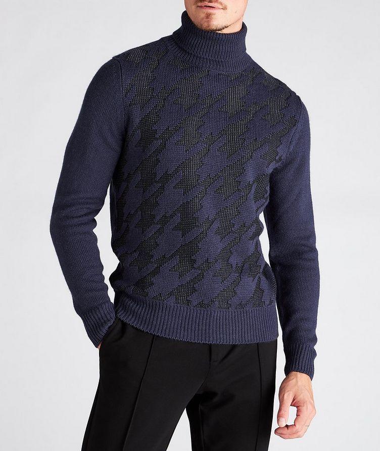 Houndstooth Wool-Blend Turtleneck image 1