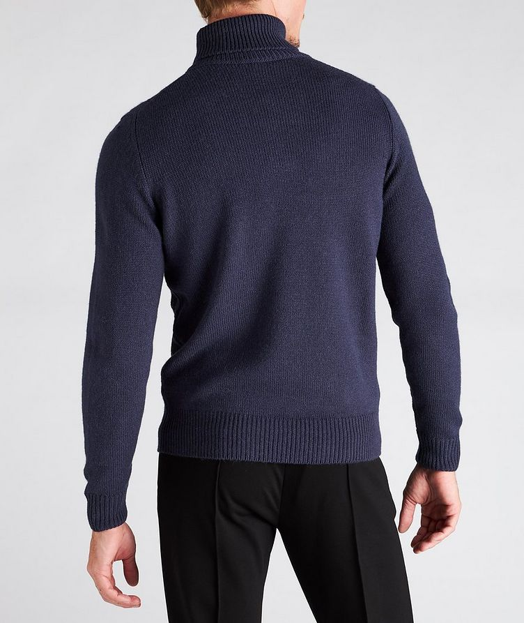 Houndstooth Wool-Blend Turtleneck image 2