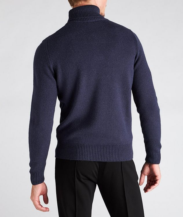 Houndstooth Wool-Blend Turtleneck picture 3