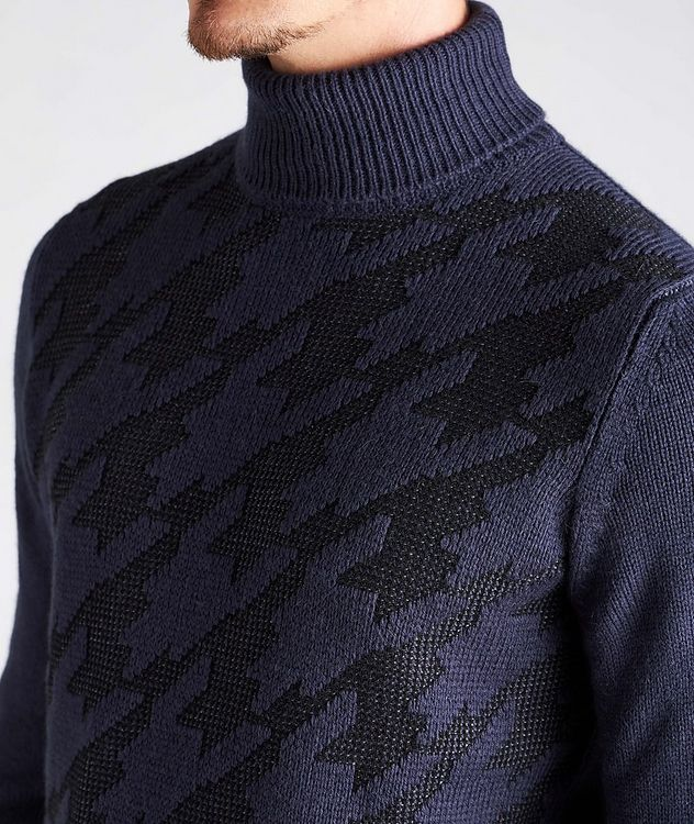 Houndstooth Wool-Blend Turtleneck picture 4